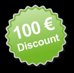 100 Euro discount